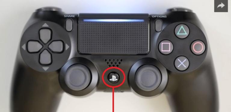 Кнопка PS на джойстике
