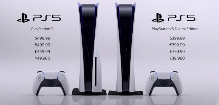 Цены на Playstation 5