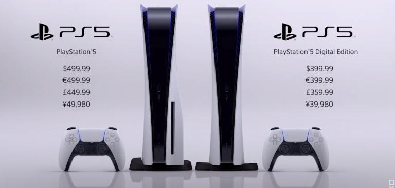 Цены на Playstation 5